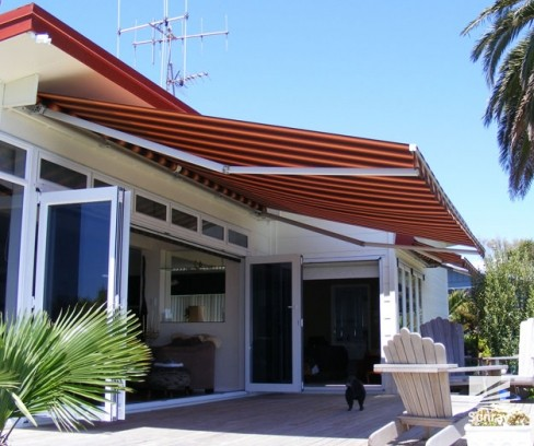 Traditional Folding Arm Awning Sunray Awnings And Blinds